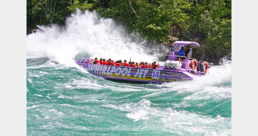 Niagara Falls – Whirlpool Jetboat Adventure – Wet Jet and Jet Dome